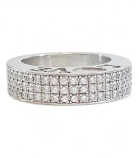 Chopard 18kt White Gold Pave Diamond Love Ring