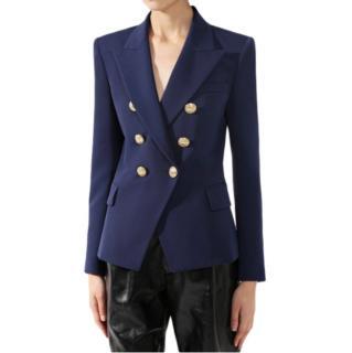 Balmain Blue Wool Tailored Jacket