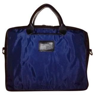 Longchamp Blue Nylon Laptop Case/Business Bag