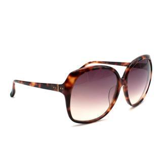 Linda Farrow Luxe Tortoiseshell LFL 158 Oversized Sunglasses