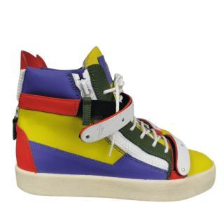 Giuseppe Zanotti Colourblock High Top Sneakers