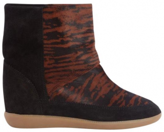 Isabel Marant Tiger Print Calf Hair/Suede Norwood Boots