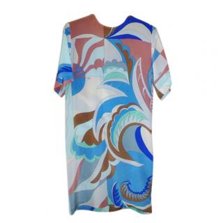 Emilio Pucci Silk Printed Shift Dress