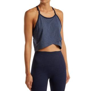 LNDR Blue Racerback Crop Cheers Top