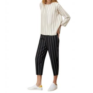 Forte Forte Blue Striped Crop Pants