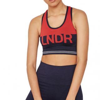 LNDR Cadet Seamless Blue & Red Sports Bra