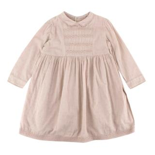 Bonpoint Ecru Cotton Lace Details Ruffled Dress