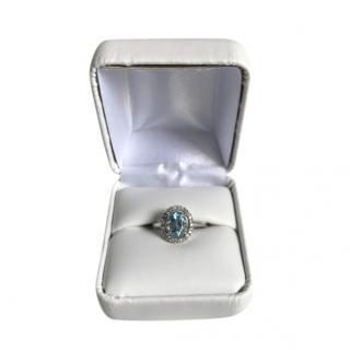 Bespoke 18ct White Gold Topaz & Diamond Ring