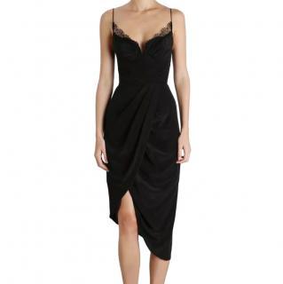 Zimmermann Black Lace trim Silk Slip Dress