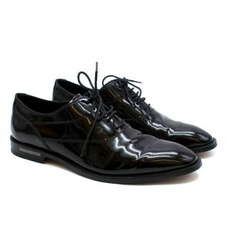 Tod's Black Patent Leather Lace Up Brogues