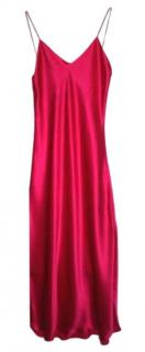 maguy De Chadriac Pink Satin Slip Dress