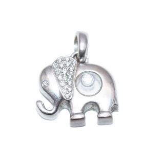 Chopard White Gold Happy Diamond Elephant Pendant