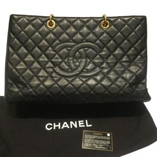 Chanel Black Caviar Calfskin Shopping Tote