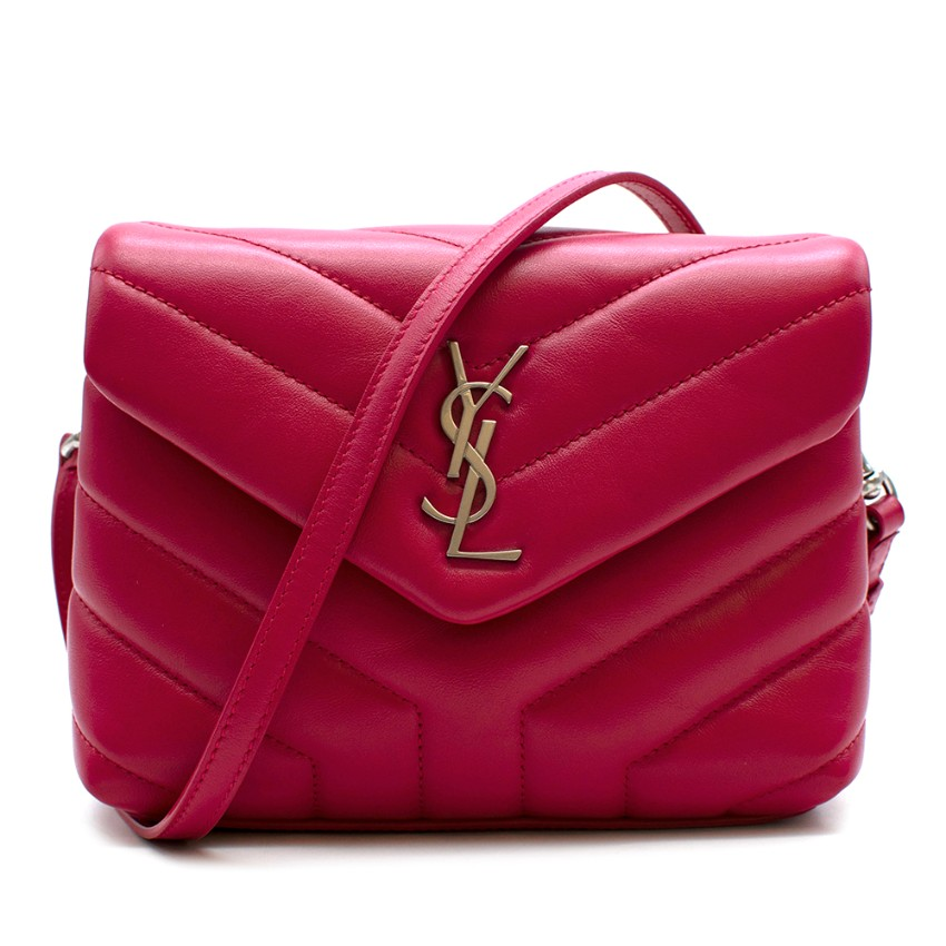 Saint Laurent Pink Toy Loulou Calfskin Leather Crossbody Bag