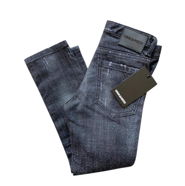 DSquared Kids 6Y Black Distressed Cool Guy Jeans