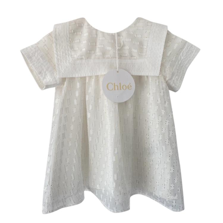 Chloe Cream Embroidered Girls 6m Dress