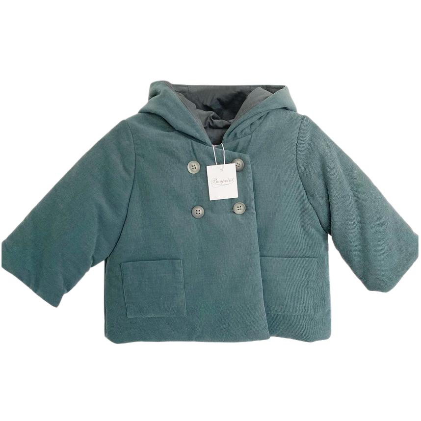 Bonpoint Velvet Kids 12M Double Breasted Coat