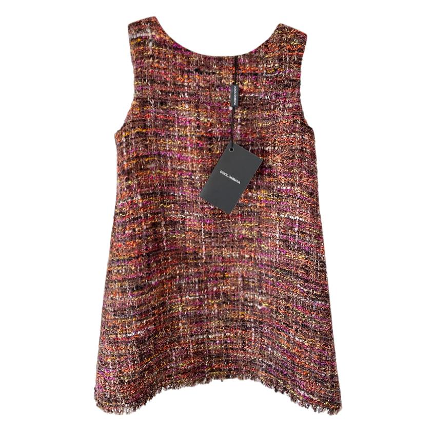 Dolce & Gabbana Kids 4Y Tweed Sleeveless Dress