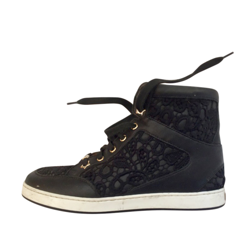 Jimmy Choo Embroidered Miami High Top Sneakers