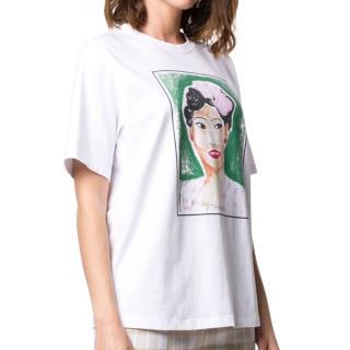 Victoria Beckham White Billie Print T-Shirt