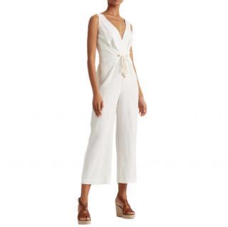 Lauren Ralph Lauren Linen Tie Waist Jumpsuit
