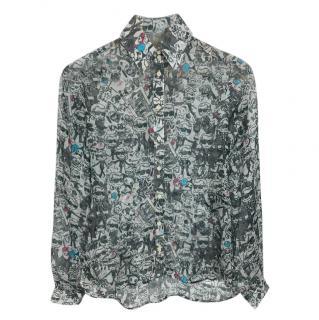 Karl Lagerfeld Silk Printed Shirt