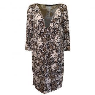 DVF Silk Jersey Printed Shift Dress
