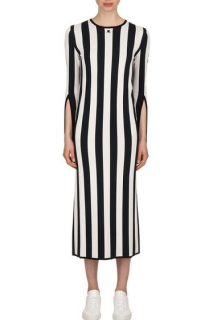 Courreges Blue & White Striped Knit Dress