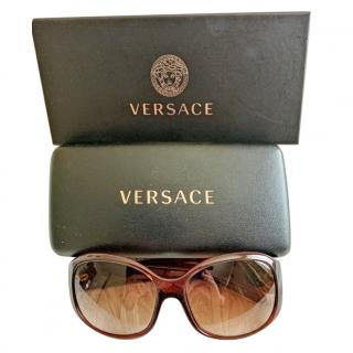 Versace Brown Medusa Head Sunglasses