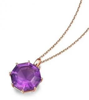 Fei Liu 18ct Rose Gold Victoriana Amethyst Pendant necklace