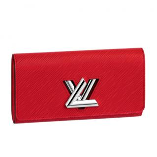 Louis Vuitton Red Epi Leather Twist Wallet