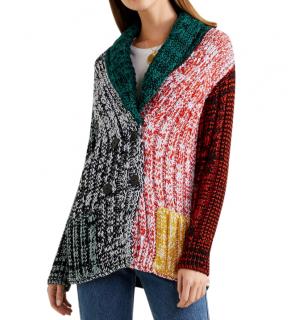 Sonia Rykiel Multicoloured Crochet-knit cardigan