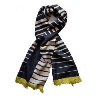 Bottega Veneta Striped Silk Runway Scarf