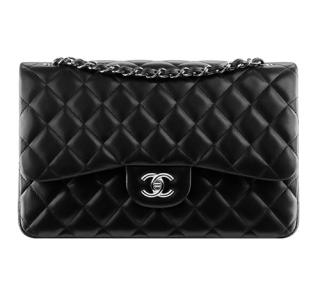 Chanel Black Lambskin Classic Double Flap SHW