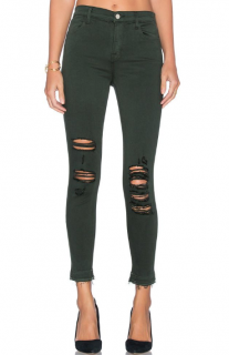 J Brand Alana High Rise Crop Jeans in Demented Evergreen