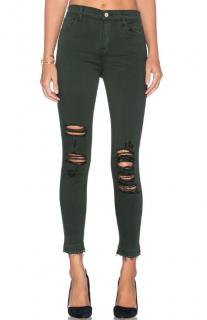 J Brand Alana High Rise Crop Jeans in Demented Evergreen