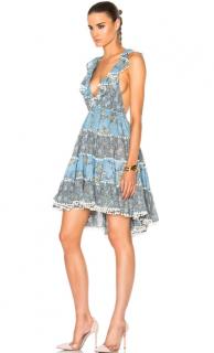 Zimmermann Blue Caravan Tiered Sun Dress