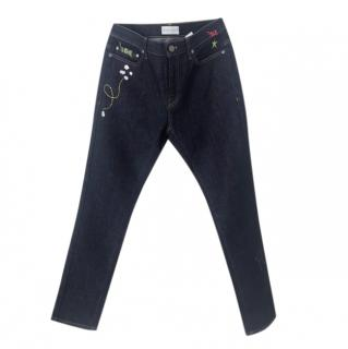 Mira Mikati navy Gaia jeans