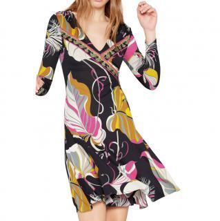 Emilio Pucci Black Frida Print Long Sleeve Dress