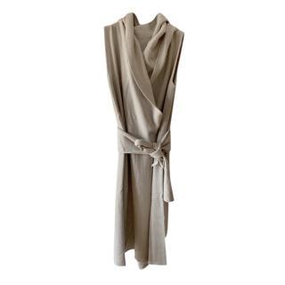 Rick Owens Grey Cashmere Hooded Vest