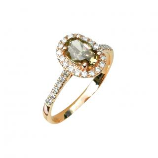 Bespoke 18ct Rose Gold Fancy Solitaire Diamond Ring