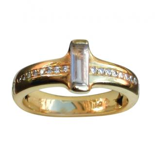 H. Stern Yellow Gold Diamond & Rock Crystal Ring