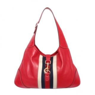 Gucci large red Jackie hobo bag