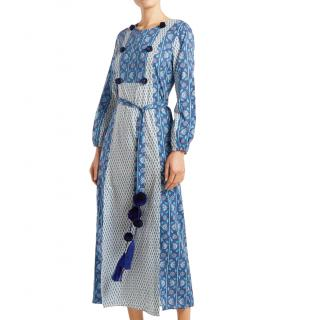 Figue Blue Cotton Voile Ravenna Midi Dress
