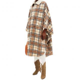 Isabel Marant Etoile Wool Blend Gabin Cape Coat