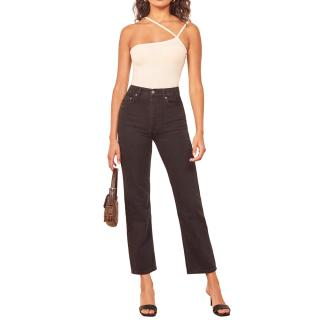 Reformation Cynthia High Rise Straight Jeans
