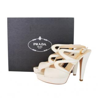 Prada White Cut-Out Sandals