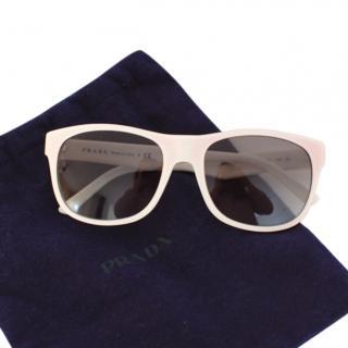 Prada White/Pink Ombre Sunglasses