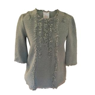 Chanel Cotton Tweed Eau De Nil Top