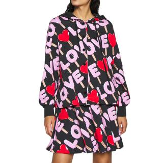 Love Moschino Lolly Print Hooded Jacket